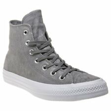 New Womens Converse Grey All Star Hi Leather Trainers Animal Lace Up