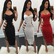 Sexy Women Bandage Bodycon Evening Party Cocktail Club Wear Casual Long Dress
