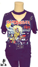 Iron Maiden Womens Distressed Oversided Ripped T Shirt / Dress KILLERS