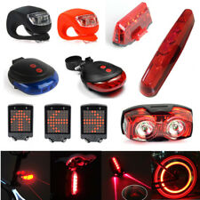 Laser LED Cycling Bicycle Bike Tail Front Head Light Safety Rear Warning Lamp