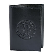Chelsea FC Official Soccer Gift Embossed Crest Leather Money Travel Wallet
