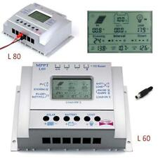 LCD 60A/80A MPPT Solar Panel Battery Regulator Charge Controllers CE 12V/24V