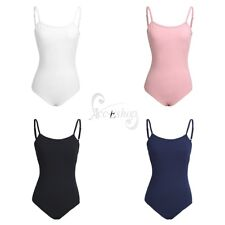 Women Ladies V-back Gymnastics Ballet Leotard Bodysuit Shoulder Strap Dance Wear