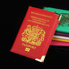 PASSPORT HOLDER FOR UK AND EUROPEAN PASSPORT PROTECTOR COVER WALLET PU LEATHER !