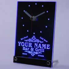 tncu-tm Personalized Custom Family Bar & Grill Beer Home Neon Led Table Clock