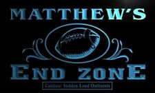 x0025-tm Matthew's Football End Zone Custom Personalized Name Neon Sign