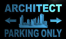 m146-b Architect Parking Only Neon Light Sign
