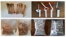 LOT OF OLD TIP TOP VINTAGE HAIR CURLERS ROLLERS PERM RODS ALUMINIUM & WOOD