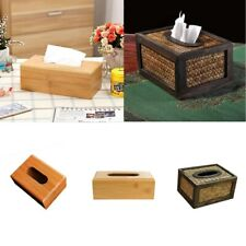 Various Bamboo Tissue Box Cover Napkin Paper Case Holder Hotel Room Decoration