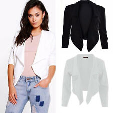 US Womens Fashion Slim Solid Suit Blazer Jacket Coat Ladies Casual Tops Outwear