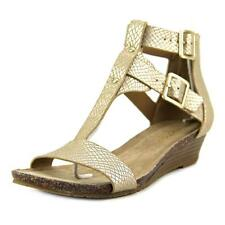 Kenneth Cole Reaction Great Step Women  Open Toe Synthetic Gold Wedge Heel NWOB