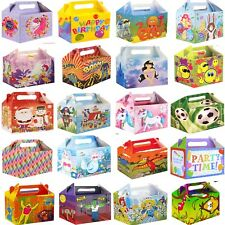 10 Party Boxes -Themed Character Cardboard Lunch Food Loot Treat Box - 22 Design