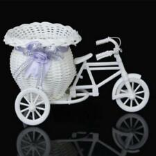 Rattan Tricycle Bike Basket Party Office Bedroom Vase Storage Decoration