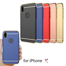 360 Degree Full Cover Case  Protector PC Hard Phone Case for iPhone Multicolor