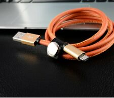3FT Leather Sync Charger Cable Fast Charger USB Data Data Cable Data Sync Cord