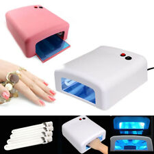 Pro Nail Polish Dryer Lamp 36W LED UV Gel Acrylic Curing Light Spa Kit W/ 4 Tube