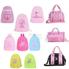Kid Girl Backpack Dance Bag Gyms Swim Shoulder Bag Ballet Shoes Embroidered Tote