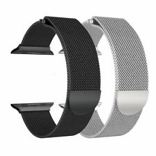 Magnetic Milanese Stainless Steel Watch Band Strap For Apple Watch Series 3/2/1