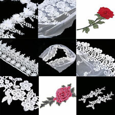 Vintage Embroidered Lace Trim Wedding Ribbon Dress Applique Sewing Craft Flower