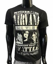 New Mens Nirvana Live T Shirt October 31 1991 Paramount Theater Seattle Size M,