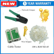 Network LAN Cable Tester Set RJ45 RJ11 Cat5e Cat6 Phone CAT Test Tool Kit @SW