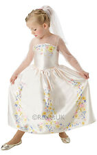 Girls Disney Cinderella Wedding Princess Book Day Fancy Dress Costume Outfit