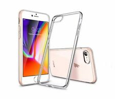 "Cover SILICONE 100% TRANSPARENT for APPLE IPHONE 8 4G 4.7"" + GLASS TEMPERED"