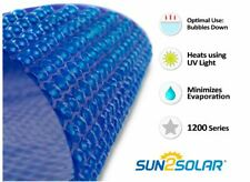 Sun2Solar® Round, Oval Rectangle Swimming Pool Blue Solar Blanket Cover - 12 Mil