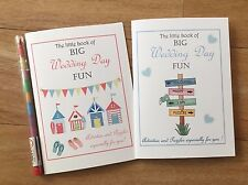 A6 Childrens Kids Wedding Activity Pack Book - Beach huts or Fun sign post