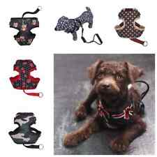 Adjustable Dog Leash Harness Collar Pet Puppy Cat Printed Vest Clothes Harness