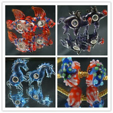 1-50p SILVER MURANO GLASS BEAD LAMPWORK Animal fit 925 European Charm Bracelet a