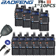 2018 BAOFENG VHF/UHF BF-F8+ 136-174/400-520Mhz Dual Band 2 Way Radio Transceiver