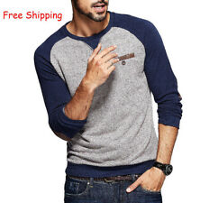 M-XXXL  Men's Casual T Shirt Plus Size Long Sleeve Round Cotton Casual Basic Tee