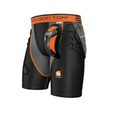 Shock Doctor Men's Ultra ShockSkin Compression Hockey Shorts w/ Carbon Cup, S-XL