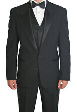 Black Formal Tuxedo Prom Package Jacket Includes Pants Vest Tie Shirt Cufflink