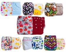 Brand 2PCS Baby Infant Cloth Diaper One Size Reusable TPU Nappy Covers Inserts