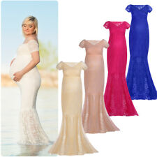 Maternity Evening Dress Lace Pregnancy Baby Shower Wedding Bridal Maxi Gowns