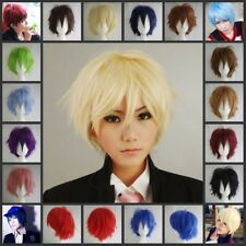 Popular Man Women Cosplay Wig Short Straight Anime Hair Full Wigs Fancy Costume
