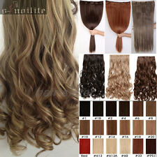 S-noilite Long Clip in Hair Extensions Curly Wavy Straight One Piece Tangle Free