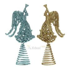 XD#3 Christmas Tree Ornament Christmas Hollow Out Angel Spring Swing Table