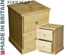 Wooden Filing Cabinet, Solid Pine Home Office 2 Drawer Folio Foolscap Filing