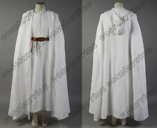Lord of the Rings Gandalf White Cosplay Robe Cloak Cape Halloween Outfit Costume