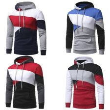 Mens's Fashion Pullover Hoodie Sweaters Patchwork Hoody Jacket Cotton Sweatshirt