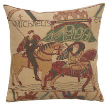 Bayeux Mont St. Michel Belgian Woven Norman Tapestry Pillow Cushion Cover NEW