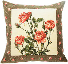 Rosae Floral French Tapestry Cushion Pillow Cover - 18 x 18 - NEW