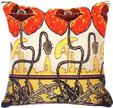 Pavot's Art Nouveau French Tapestry Cushion Pillow Cover - 18 x 18 - NEW