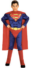 Superman Child With Muscle Chest Boys Costume Red Cape Fancy Dress Up Rubies