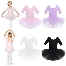Kids Girls Ballet Skating Tutu Dress Child Gymnastics Leotard Dance Wear Costume