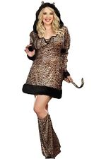 Dreamgirl Cheetah-Licious Cheetah Adult Womens Halloween Costume Plus Size 8760