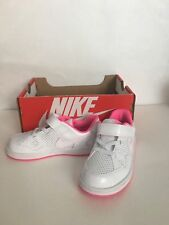 NEW NIKE SON OF FORCE TODDLER VERSION GIRLS SHOES White/Pink 616498 107
